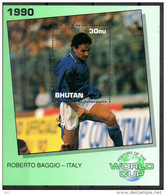BHOUTAN  BF 286 ( Roberto Baggio )  * *  ( Cote 7.50e ) Cup  1990   Football  Soccer Fussball - 1990 – Italia
