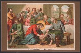 "Gesù - La Lavanda Dei Piedi Ai Discepoli - (Parigi - Inizio Novecento) - ""Riproduzione"" - Images Religieuses"