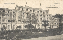 263. NICE . GRAND HOTEL WINTER-PALACE . ECRITE AU VERSO - Monuments, édifices
