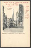 Chemin De Fer De L'Ouest Et De Brighton - Sur CPA Rouen Vieilles Maisons Près De L'Eglise St-Maclou - Voir 2 Scans - Rouen