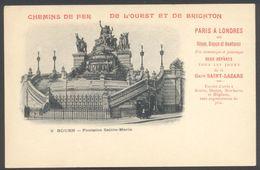 Chemin De Fer De L'Ouest Et De Brighton - Sur CPA Rouen Fontaine Sainte-Marie - Voir 2 Scans - Rouen