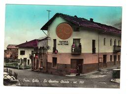 F1220 TORINO MATTIE FRAZ. GILLO TRATTORIA LE QUATTRO STRADE CARTOLINA ACQUARELLATA - Cafés, Hôtels & Restaurants