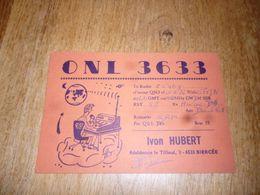 BC10-2-0 Carte Radio Amateur Belgique Biercée Thuin - Radio & TSF