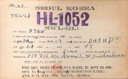 CARTE RADIO QSL - Seoul, Korea - HL-1052 - 1956 - Radio