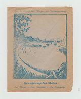 LSC 1953- Enveloppe Illustrée Au Dos - GRANDCAMP LES BAINS - Sa Plage Son Poisson Sa Campagne + Cachet Daguin - Storia Postale
