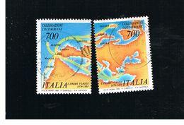 ITALIA REPUBBLICA  - SASS. 1888.1889    -      1990    COLOMBO.  -      USATO - 6. 1946-.. República