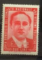 PRO VITTIME POLITICHE L.2  GIACOMO MATTEOTTI - Stamps