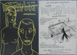 Dupuy Berberian - Carte Promo Double Face - Impossible Et Expo - Cartes Postales
