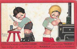 CPA HUMOUR. Illustrateur Beatrice MALLET.  Frottinet Et Frottinette Font La Pub Lion D'acier, Radia Et Radiola...CO 497 - Mallet, B.