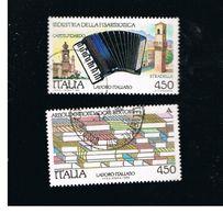 ITALIA REPUBBLICA  - SASS. 1882.1883    -      1989    FISARMONICA, MONDADORI  -      USATO - 6. 1946-.. Repubblica