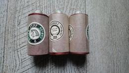 Lot 3 Bobines 6 Fils Cablés De Coton N°8 France Thiriez Ancien Maroquinerie Travail Cuir - Creative Hobbies