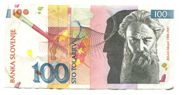 2003 Slovenia 100 Tolar Banknote - Slovenia