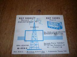 BC10-2-0 Carte Radio Amateur France Pantin Bernard Theret - Radio & TSF