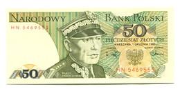 1988 Poland 50 Zloty  Banknote - Pologne