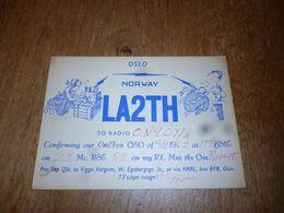 BC10-2-0 Carte Radio Amateur Norway Oslo Appareil TSF - Radio & TSF