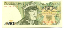 1988 Poland 50 Zloty  Banknote - Poland