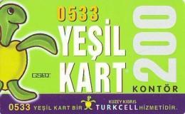 Télécarte à TURKEY  (2307) TORTUE - TURTLE * Phonecard - SCHILDKRÖTE * TELEFONKARTE - Turtles