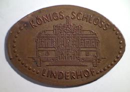 03083 GETTONE JETON TOKEN FINLAND NUMISMATIC ELONGATED PENNY SOUVENIR KONIGS SCHLOSS  LINDERHOF - Pièces écrasées (Elongated Coins)