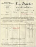 NUITS SAINT GEORGES LOUIS CHEVALLIER GRANDS CRU BOURGOGNE BORDEAUX CANTENAC MARGAUX BARSAC EPERNAY LETTRE ANNEE 1932 - France