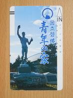 Japon Japan Free Front Bar, Balken Phonecard  / 110-6941 / Statue / Bars On Rearside - Japan