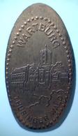 03084 GETTONE JETON TOKEN FINLAND NUMISMATIC ELONGATED PENNY SOUVENIR WARTBURG THURINGER WALD - Pièces écrasées (Elongated Coins)
