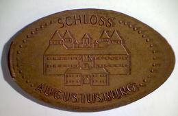 03086 GETTONE JETON TOKEN FINLAND NUMISMATIC ELONGATED PENNY SOUVENIR SCHLOSS AUGUSTUSBURG - Elongated Coins