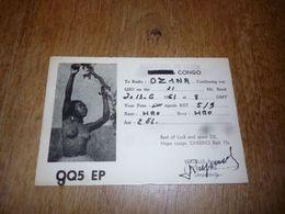 BC10-2-0 Carte Radio Amateur Republique Du Congo Léopoldville R Verselle Photo Femme Seins Nus - Radio & TSF