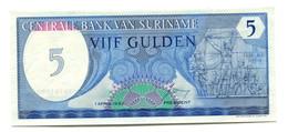 1982 Suriname 5 Gulden Banknote - Surinam