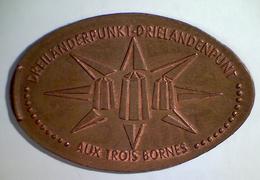 03087 GETTONE JETON TOKEN FINLAND NUMISMATIC ELONGATED PENNY SOUVENIR AUX TROIS BORNES DREILANDERPUNKT - Elongated Coins