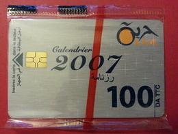 ALGERIE 100u Algérie Calendrier 2007 NSB Neuve Blister Oria Afrique - Algeria