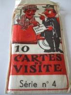 02022018 -  POCHETTE DE 9 CARTES DE VISITE HUMORISTIQUES - SERIE N° 4 - Visiting Cards