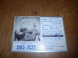 BC10-2-0 Carte Radio Amateur Sweden Suède Soderhamn Belle Photo Poste TSF - Radio & TSF
