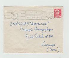 """LSC 1956 - ORAN - Flamme """"Capitale économique De L'Algérie"""" - Marcophilie (Lettres)"""