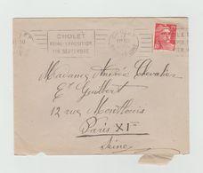 """LSC 1950 - CHOLET - Flamme """"Cholet Foire Exposition Fin Septembre"""" - Marcophilie (Lettres)"""