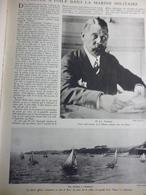 L'école A Voile Dans La Marine 1931 - Documents Historiques