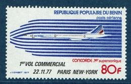 Benin, Concorde, Overprint, 1977, MNH VF  Airmail - Benin - Dahomey (1960-...)