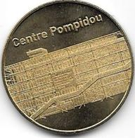 MEDAILLE TOURISTIQUE MONNAIE DE PARIS 75004 CENTRE POMPIDOU 2012 - Monnaie De Paris