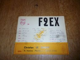 BC10-2-0 Carte Radio Amateur France Vichy C Le Magny Pub Philips - Radio & TSF