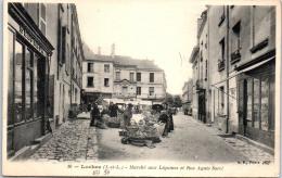 37 LOCHES - Marché Aux Légumes Et Rue A Sorel - Loches