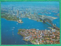 Australie - Sydney - - New South Wales - Aerial View Of Sydney Harbour Showing Opera House & Harbour Bridge - Sydney