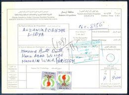 L58- Libya Parcel Receipt Cover Send To Pakistan. 1979 Definitive Issue. - Libye