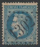 Lot N°40267  Variété/n°29B, Oblit GC 1302 Wardrecques, Pas-de-Calais (61), Ind 20 Ou Dieuze, Meurthe (52), Ind 5, Filet - 1863-1870 Napoleon III With Laurels