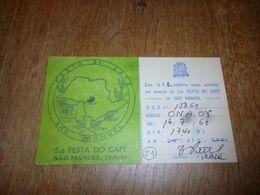 BC10-2-0-2 Carte Radio Amateur  Brésil Sao Paulo Sao Manuel Brasil Festa Do Café - Radio & TSF