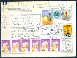 L70- Libya Parcel Receipt Cover Send To Pakistan. 1992 Col. Khadafy Definitive. Mosque. - Libye