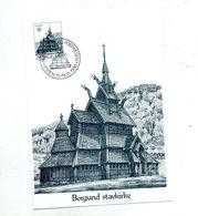 Carte Maximum 1980 Eglise Borgund - Cartes-maximum (CM)