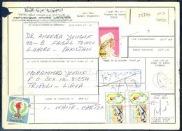 L74- Libya Parcel Receipt Cover Send To Pakistan. 1992 Col. Khadafy Definitive. - Libya