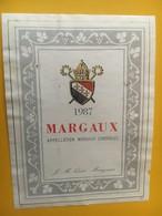 6852 - Margaux 1987  JM Quié - Bordeaux