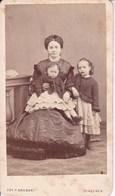 PLACENZA Stabilimento Fotografico Fratelli Gregori Photo Foto CDV Années 1860 Femmes Et Ses Enfants - Old (before 1900)