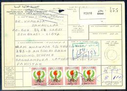 L78- Libya Parcel Receipt Cover Send To Pakistan. 1979 Definitive Issue. - Libya