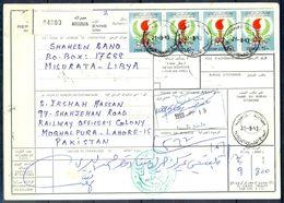 L79- Libya Parcel Receipt Cover Send To Pakistan. 1979 Definitive Issue. - Libya